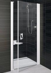 RAVAK Elegance ESD1-80 Egyrészes balos zuhanyajtó fehér kerettel / TRANSPARENT edzett biztonsági üveggel 80 cm / 0EL40100Z1