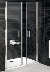 RAVAK Elegance ESD2-110 Kétrészes zuhanyajtó fehér kerettel / TRANSPARENT edzett biztonsági üveggel 110 cm / 0HVD0100Z1