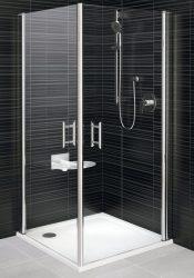 RAVAK Elegance ESKR2-80 Sarokbelépős zuhanykabin két nyíló résszel fehér kerettel / TRANSPARENT edzett biztonsági üveggel 80 cm / 1JE40100Z1
