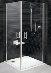 RAVAK Elegance ESKR2-90 Sarokbelépős zuhanykabin két nyíló résszel króm kerettel / TRANSPARENT edzett biztonsági üveggel 90 cm / 1JE70A00Z1
