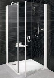 RAVAK Elegance ESKPS-80 Kétrészes jobbos zuhanykabin fix oldallal fehér kerettel / TRANSPARENT edzett biztonsági üveggel 80 cm / 1MP40100Z1