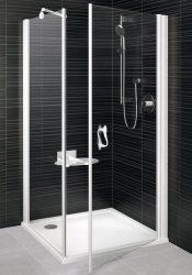 RAVAK Elegance ESKPS-90 Kétrészes balos zuhanykabin fix oldallal fehér kerettel / TRANSPARENT edzett biztonsági üveggel 90 cm / 1ML70100Z1