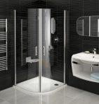 RAVAK Elegance ESKK2-80 Negyedköríves zuhanykabin króm kerettel / TRANSPARENT edzett biztonsági üveggel 80 cm / 3E040A00Z1
