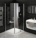 RAVAK Elegance ESKK2-90 Negyedköríves zuhanykabin fehér kerettel / TRANSPARENT edzett biztonsági üveggel 90 cm / 3E070100Z1