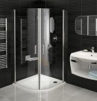 RAVAK Elegance ESKK2-90 Negyedköríves zuhanykabin króm kerettel / TRANSPARENT edzett biztonsági üveggel 90 cm / 3E070A00Z1