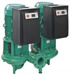 WILO CronoTwin DL-E 100/220-5,5/4 Elektronikusan szabályzott száraztengelyű ikerszivattyú inline kivitelben / 2115545