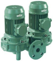 WILO VeroTwin DPL 65/110-0,25/4* Száraztengelyű szivattyú in-line kivitelben karimás csatlakozással / 2133205
