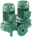 WILO VeroTwin DPL 65/155-7,5/2 Száraztengelyű szivattyú in-line kivitelben karimás csatlakozással / 2089667