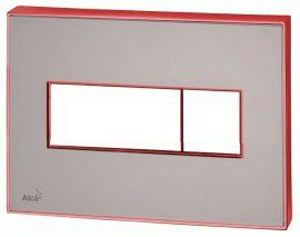 AlcaPLAST M1473-AEZ113, Nyomógomb előtétfalas rendszerekhez színes betéttel (Barna) és háttérvilágítással (Piros)