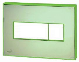 AlcaPLAST, M1472-AEZ112, Nyomógomb előtétfalas rendszerekhez színes betéttel (Zöld)és háttérvilágítással (Zöld)