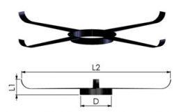 Tricox FKP105 Központosító flexibilis rendszerhez, Ø60 mm, 5 db/csomag