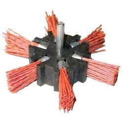 EXTOL CRAFT PVC csiszoló körkefe 100mm, 6mm-es csap, fúróba  fogható, 4500 f/p / 17060 / (MB)
