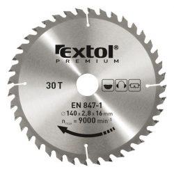 EXTOL PREMIUM körfűrészlap, keményfémlapkás, 2,8mm lapkaszél., max. 9000f/p 160×20mm, T24 / 8803213 / (MB)