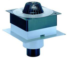 HL63P/1 DrainBox lapostető lefolyó DN110, PVC karimával.