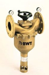 BWT Ipari lebegőanyag szűrő berendezés, Kézi visszaöblítésű karimás szűrő, melegvizes kivitel, CWW DN 65, Cikkszám: IECWK1900W