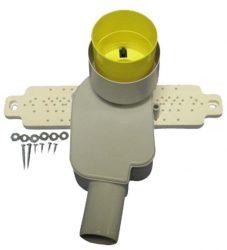 HL134.2/40 Mosdószifon (falba süllyesztve) szerelvény DN40 (HL134.0 + HL44)