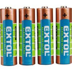 EXTOL CRAFT elem klt. 4 db, alkáli, 1,5V, méret: AAA (LR03), hosszú étettartam, bliszteren / 42010 / (MB)