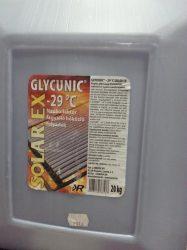 Glycunic Solar EX fagyálló szolár folyadék 20L-es, 20 kg-os, -29°C