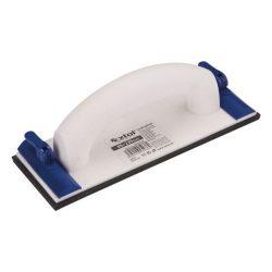 EXTOL CRAFT kézi csiszoló, műanyag 85×235mm, műanyag leszorítóval / 990225 / (MB)