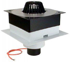 HL63.1P/7 DrainBox lapostető lefolyó DN75, PVC karimával, fűtéssel (10-30W/230V).