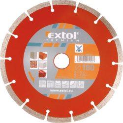 EXTOL PREMIUM gyémántvágó szegmenses, száraz és vizes vágásra 125mm / 108712 / (MB)