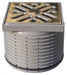 HL36N Rácstartó d 110mm/100x100mm 94x94mm nemesacél ráccsal