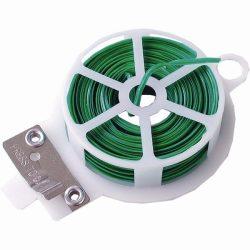 EXTOL CRAFT kötözőhuzal acélszál, műanyag borítás, lapos, 50m, vágóval / 92571 / (MB)