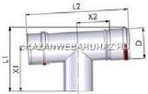Tricox AET20F Alu ellenörző T-idom 80mm, fehér