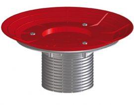 HL85N-3020 Szigetelő karimás magasító elem 80mm/ d110mm, 'O' gyűrűvel és mélyebb betonozó sablonnal a HL3020 (becsempézhető) lefolyó sorozathoz