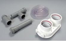 Saunier Duval, 80/80 Indítóidom felső elem, kondenzelvezető szifonnal, Cikkszám: A2007400