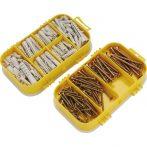 EXTOL CRAFT forgácslapcsavar és műanyag tipli klt., 170db műanyag tároló dobozban/1445