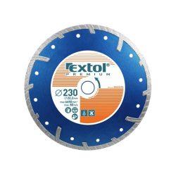 EXTOL PREMIUM gyémántvágó TURBO Plus száraz és vizes vágáshoz 125mm / 8803032 / (MB)