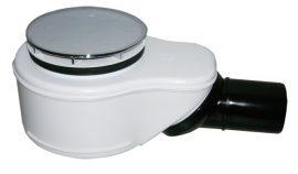 HL520 Zuhanytálca szifon d=90mm lefolyónyíláshoz, DN50 elfordítható kimenettel, polírozott nemesacél lefolyólappal