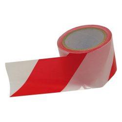 EXTOL CRAFT jelölő szalag, piros-fehér 75mm×100m, polietilén / 9565 (MB)