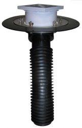 HL69B/2 Tetőlefolyó, DN125 tetőjavításhoz, 148x148mm/137x137mmlefolyóráccsal