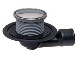 HL80.1R Padlólefolyó DN50/75 elfordítható kimenettel, szigetelő karimával, vízbűzzárral, d 133mm/d 112mm