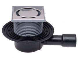 HL510N Padlólefolyó DN40/50 vízszintes kimenettel,123x123mm/115x115mm