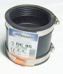 Flexicon XR 95 Gumimandzsetta / gumiösszekötő / PVC - Eternit cső átalakító gumi / csőtoldó, 95 mm