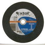 EXTOL PREMIUM vágókorong acélhoz, kék 125×1,0×22,2mm / 8808102 / (MB)