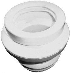 HL200/90 WC-csatlakozó elfordítható excenterrel és többrészes DN90 ajakos tömítéssel