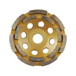 EXTOL PREMIUM gyémántcsiszoló korong; kétsoros 115mm x 22,2mm / 8803121 / (MB)