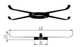 Tricox FKP205 Központosító flexibilis rendszerhez, Ø80 mm, 5 db/csomag