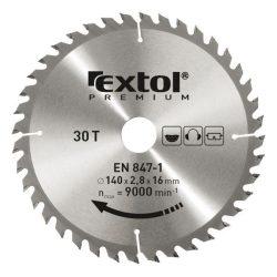 EXTOL PREMIUM körfűrészlap, keményfémlapkás, 3,2mm lapkaszél., max. 6500f/p  250×30mm, T24 / 8803240 / (MB)