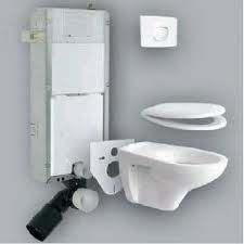 Sanit 980C szett beépíthető / falba építhető / befalazható wc tartály / szerelőelem (bovdenes) + nyomólap + wc ülőke + fali wc csésze