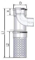 Tricox AAKT60 Alu/Alu kültéri T-idom 80/125mm levegő kosárral