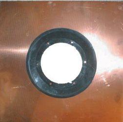 HL84.CU Szigetelő készlet d 500mm vörösréz lemezzel