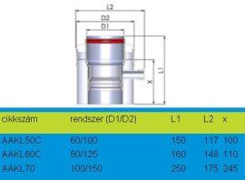 Tricox AAKL50C Alu/Alu kondenzátum leválasztó 60/100mm