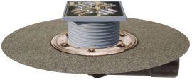 HL80.1H Padlólefolyó DN50/75 elfordítható kimenettel, gyárilag felhegesztett bitumengallérral, vízbűzzárral,123x123mm/115x115mm
