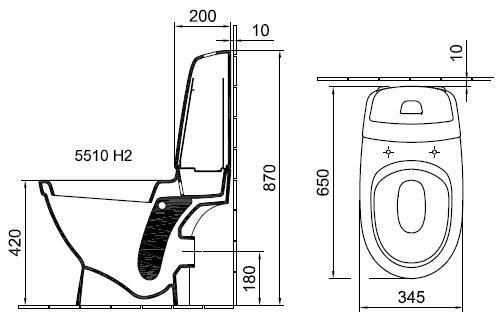 ALFÖLDI MELINA / 5510 H2 R1 / kombipack mélyöblítésű, hátsó kifolyású monoblokkos wc + tartály + Soft Close / lecsapódásgátlós ülőke