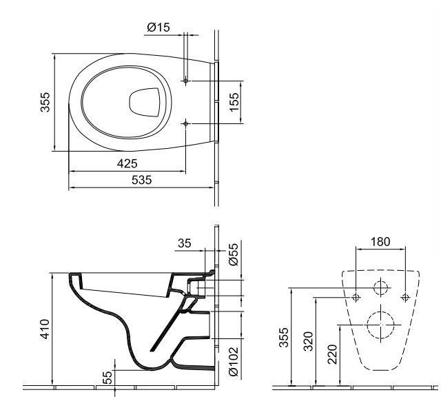 ALFÖLDI SAVAL 2.0 mélyöblítésű fali wc / 7056 59 R1 (4056 59 R1 utódja) EasyPlus bevonattal